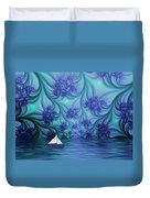 Abstract Blue World Duvet Cover