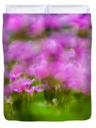 abstract Blurry pink flower background for backgrounds Duvet Cover