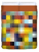 Abstract Boxes With Layers Duvet Cover