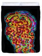 Abstract  Brain Duvet Cover