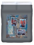 Abstract Branch Collage Trio Duvet Cover
