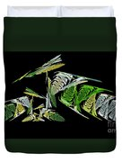 Abstract Bugs Life Horizontal Duvet Cover