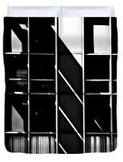 Abstract Building Fascade With Light And Shadow Duvet Cover