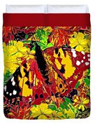 Abstract Butterfly #3 Autumn Duvet Cover