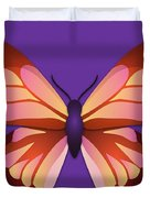 Butterfly Graphic Orange Pink Purple Duvet Cover