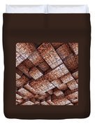 Abstract Ceiling Stone Construction  Duvet Cover