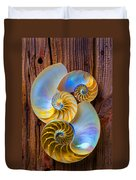 Abstract Chambered Nautilus Duvet Cover