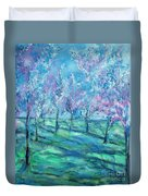 Abstract Cherry Trees Duvet Cover