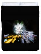 Abstract Christmas Lights - Burst Of Colors Duvet Cover