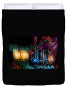 Abstract Christmas Lights - Color Twists And Swirls  Duvet Cover