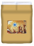 Abstract City Cityscape Contemporary Art Original Painting The Lost City By Madart Duvet Cover