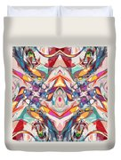 Abstract Color Mix Duvet Cover