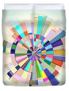 Abstract Color Wheel Duvet Cover