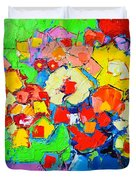 Abstract Colorful Flowers Duvet Cover