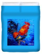 Abstract Colorful Gallic Rooster Duvet Cover