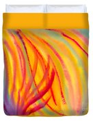 Abstract Colorful Lines Duvet Cover