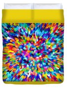 Abstract Colorful Splash Background 1 Duvet Cover