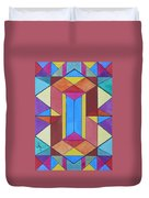Abstract Colorful Stained Glass Window Design  Duvet Cover