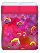 Abstract Colorful Water Drops Duvet Cover
