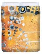 Abstract Decorative Art Original Circles Trendy Painting By Madart Studios Duvet Cover