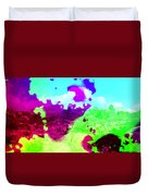 Abstract Desert Scene Duvet Cover
