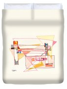 Abstract Drawing Eighteen Duvet Cover