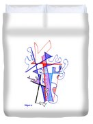 Abstract Drawing Sixty-nine Duvet Cover