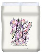 Abstract Drawing Twenty-six Duvet Cover
