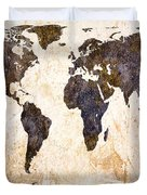 Abstract Earth Map Duvet Cover