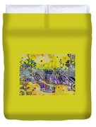 Abstract - Falling Leaves Duvet Cover