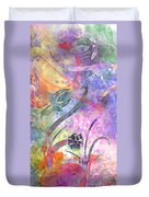 Abstract Floral Designe - Panel 2 Duvet Cover