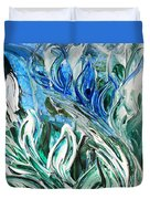 Abstract Floral Sky Reflection Duvet Cover