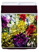 Abstract Flowers Messy Painting Duvet Cover