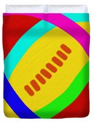 Abstract Football Duvet Cover
