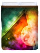 Abstract Full Moon Spectrum Duvet Cover by Phil Perkins