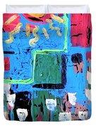 Abstract Garden Duvet Cover