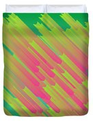 Abstract Glowing Structures Duvet Cover
