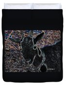 Abstract Goat Duvet Cover
