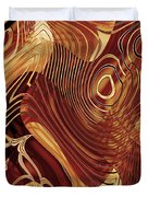 Abstract Gold 3 Duvet Cover