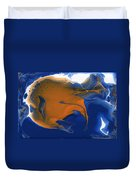 Abstract Gold Fish Duvet Cover