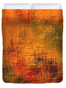 Abstract Golden Earth Tones Abstract Duvet Cover