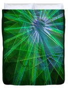 Abstract Green Lights Duvet Cover
