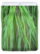 Abstract Green Pine Duvet Cover