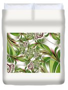 Abstract Green Plant Duvet Cover