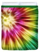 Abstract Green Tie Dye Duvet Cover