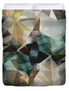 Abstract Grunge Triangles Duvet Cover