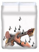 Abstract Guitar Player Duvet Cover