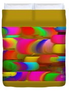 Abstract Hair Curlers Painting Duvet Cover