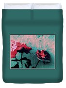 Abstract Hdr Roses Duvet Cover