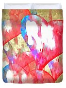 Abstract Hearts 16 Duvet Cover
